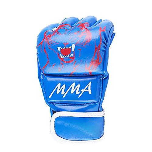 Bokshandschoenen Grappling Vechtsporten Sparring bokszak PU Leather Half Mitts Combat Training Handschoenen for Kickboxing Sparring (kleur: rood, Maat: XL) Bokshandschoenen en tas,leilims