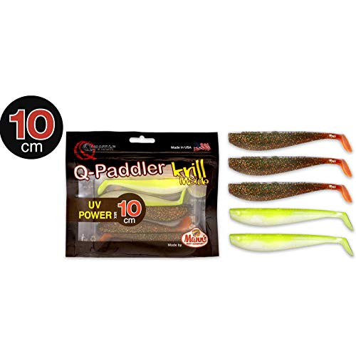 Quantum Q-Paddler Packs UV Power Mix, 3X Magic motoroil + 2X Citrus shad, 10 cm