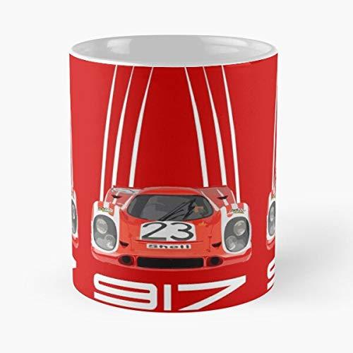 Por-sche 917 No 23 1970 Salz-burg Classic Livery Mug Best Gift Coffee Mugs 11 Oz