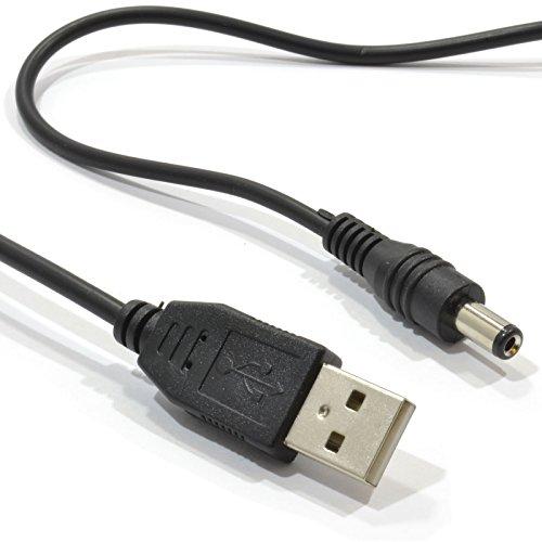 USB A DC Energía Cable USB 2,0 para 2,1 mm x 5,5 mm 5V 2A 2000mA 1 m
