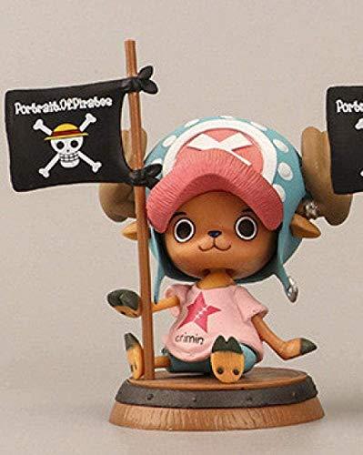Personajes de Anime Modelo de una Pieza Chopper Figuras de Anime Muñeca Estatuilla de PVC Figura de acción Juguete Coleccionables Recuerdos Muñeca de Regalo OPP Bolsa 7.5cm