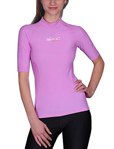 iQ-UV Damen UV Kleidung 300 Shirt Slim Fit, Violet, XS