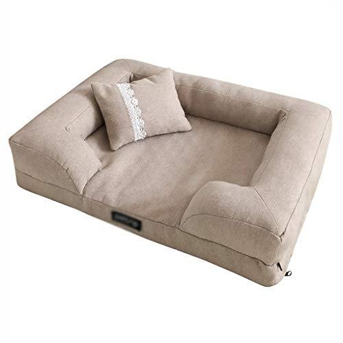Cama para perro, gato, cama para mascota, nido de cueva, manta pequeña y mediana para sofá, sofá chaise longue, suave tela Oxford antideslizante, lavable a máquina (color: gris, tamaño: L)