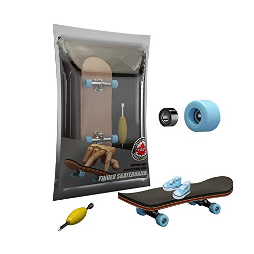 YIPINZHONGKE Mini Tech Deck Braille Fingerboard Skateboardspark, Finger Shoes Competition Toy Scooter Boards for Kids Pro, Blind Tech Deck Half Pipe Ramps BMX, Alloy Bearing Wheel Five Layers