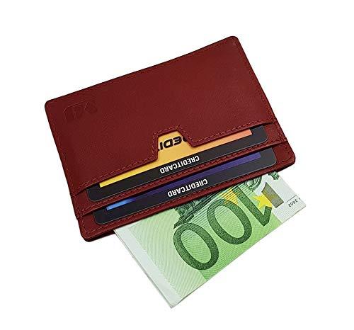 Vacchetta porta carte di credito MJ-Design-Germany in 3 diversi colori (Rosso)
