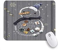 VAMIX マウスパッド 個性的 おしゃれ 柔軟 かわいい ゴム製裏面 ゲーミングマウスパッド PC ノートパソコン オフィス用 デスクマット 滑り止め 耐久性が良い おもしろいパターン (灰色の雪だるまのクリスマスデザート)