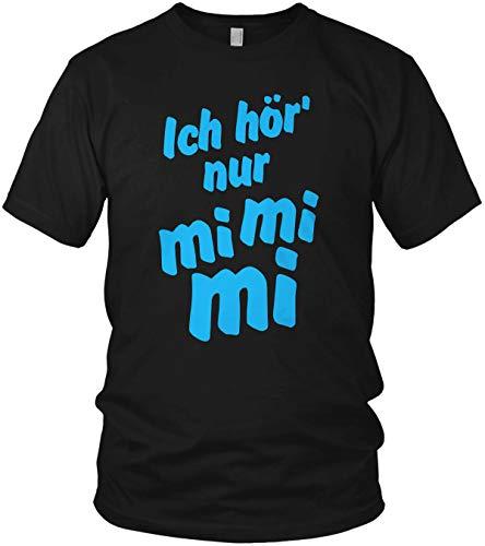 Ich hör' nur mi mi mi - Geschenk Idee Motiv Shirt mit Spruch - Herren T-Shirt und Männer Tshirt, Farbe:Blau, Größe:XL