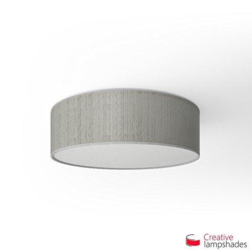 Creatieve lampenkappen Ronde plafondlamp met witte Plissé Organza bekleding Diameter 40cm - H. 15cm
