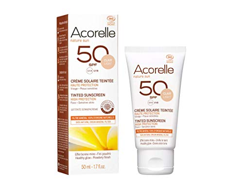 Acorelle Tinted Sunscreen Cream SPF 50 NEW - Light-Clair