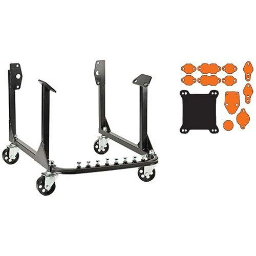 """JEGS Rolling Engine Cradle With Block-Off Kit 