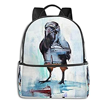 Raven Freighter School Bag Student Backpack Cycling Travel Bag Outdoor Backpack For Girls Boys