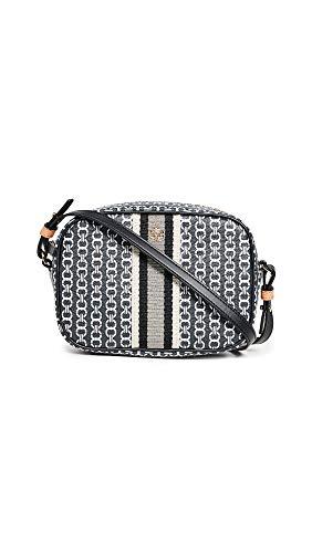 Tory Burch Women's Gemini Link Canvas Mini Bag, Black, One Size