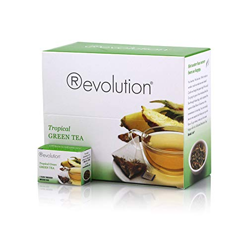 Revolution Tea - Tropical Green Tea | Premium Full Leaf Infuser Teabags - Island Energy Boost (30 Bags)