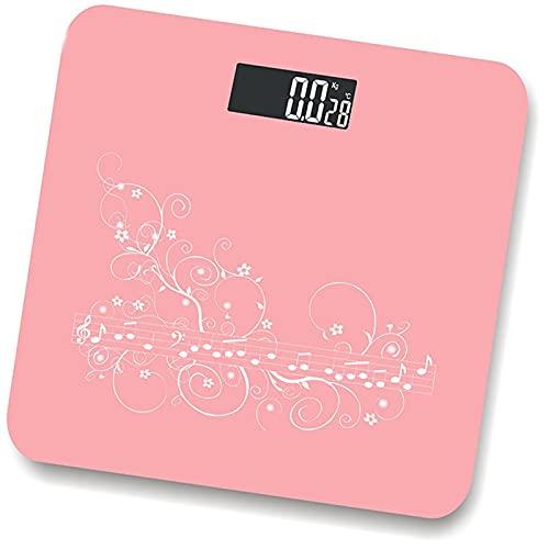2 colores moda báscula de baño digital 0.2g-180kg Temperatura Bmi Comparación de diferencia Electrónica de la báscula de piso escala de pesaje Escala de peso corporal Escalas de pesas Escalas de pesas