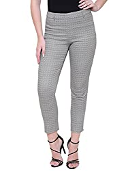 MansiCollections Beige Color with Print Trouser for Women