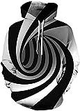Pandolah Men's Athletic 3D Animal Cosmic Galaxy Printed Hoodies Sweatshirts (003Vortex-c, Large/X-Large)