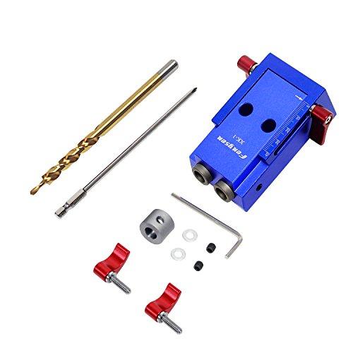 Wisamic Aluminiumlegierung 6061 Holzverbindungssystem Bohrhilfe Jig-Set