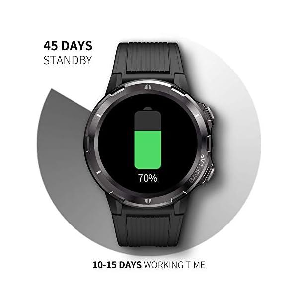 Reloj Inteligente Hombre Mujer, GRDE Smartwatch Redondo 12 Modo Deportivo con (Monitor de Ritmo Cardíaco/Sueño/Calorías… 5