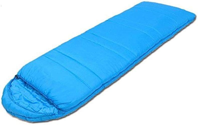 SHUIDAI Camping sacs de couchage adulte single     coton , bleu