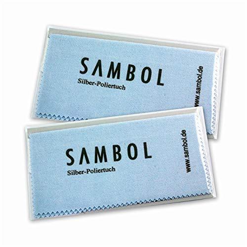 Sambol® 2x Silberschmuck Reinigungstücher | Pflege Poliertücher | Silberpflegetücher