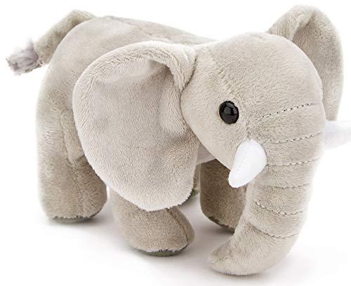 Zappi Co Plüsch Elefant 15,2 cm, Plüschtier Tiere, weiches Kuscheltier. Ideal für Neugeborene Elefant