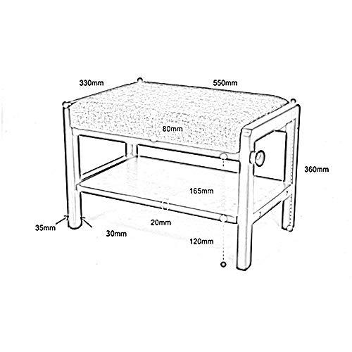 YIZ Moderne Möbel Alle Massivholz für Schuhhocker Schuhkarton Schuhregal Lagerung Läden Tragen Hocker Kreative Haustür Tuch Sofa Hocker,# 2