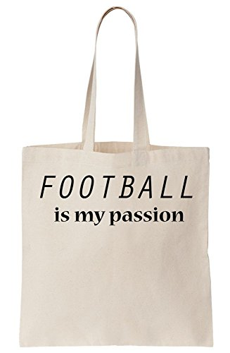 graphke Football Is My Passion Canvas Tote Bag