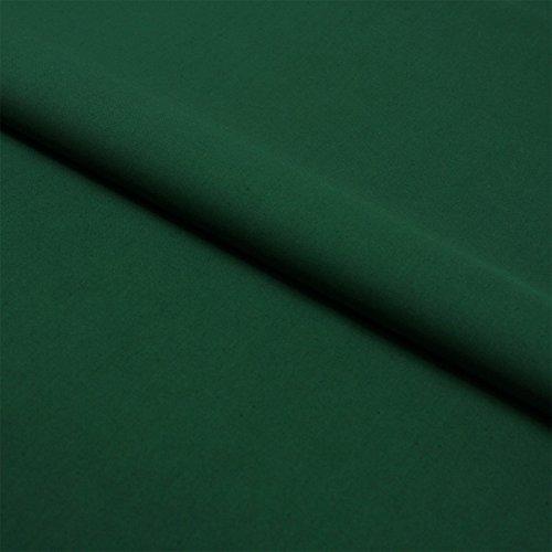 Hans-Textil-Shop Stoff Meterware Dunkelgrün Baumwolle Linon (Einfarbig, Uni, Schadstoffgeprüft, Pflegeleicht, ca 140 g/qm, ca. 145 cm breit, 1 Meter)