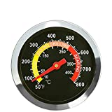 LOKHING 01T08 DIA 6 Centimeters Stainless Steel Smoker Grill BBQ Temperature Gauge Oven BBQ Thermometer Gauge