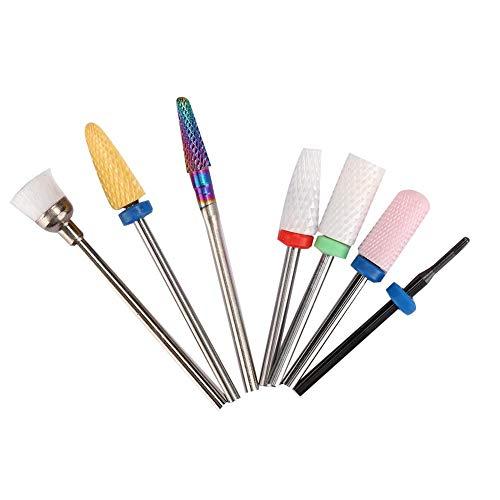 7 Pcs Électrique Nail Drill Bit Set Professionnel Nail Drill Bits Kit Manucure Pédicure Nail Polishing Machine Accessoire pour Nail Polishing Manucure