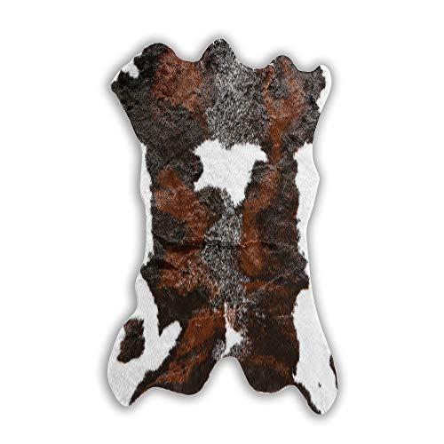 Townssilk Teppich aus Rindsleder, Kuhfell, für Westerndekoration, Kunstfell, Kalbsleder, Rindsleder, 73,7 x 109,2 cm