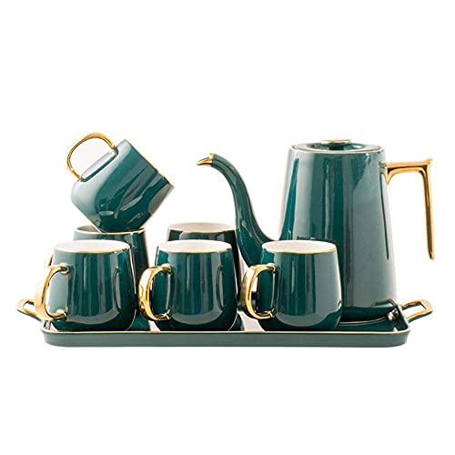 HCFSUK Porcelain Tea Set Afternoon Tea Sets with Afternoon Tea Tea Set Ceramic Water Set Water Cup Household Teapot Tea Cup,Lid Cup