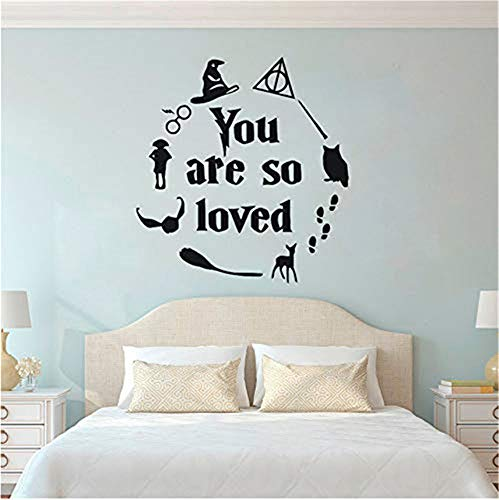 Wandtattoo Vinyl Wall Sticker You are So Loved Sign Quote Wall Decals Kids Gift Boys Room Decor Playroom Wall Poster