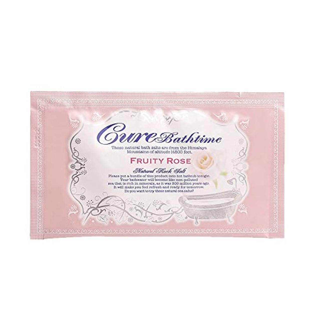 Cureバスタイム 天然ヒマラヤ岩塩バスソルト フルーティローズの香り 16包セット