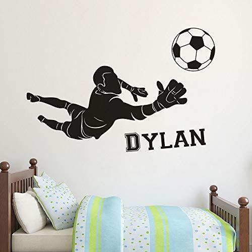 Etiqueta engomada de la pared del portero de fútbol del club de fútbol decoración de la habitación de los niños cartel de la pared calcomanía deportiva de fútbol A5 108x57cm