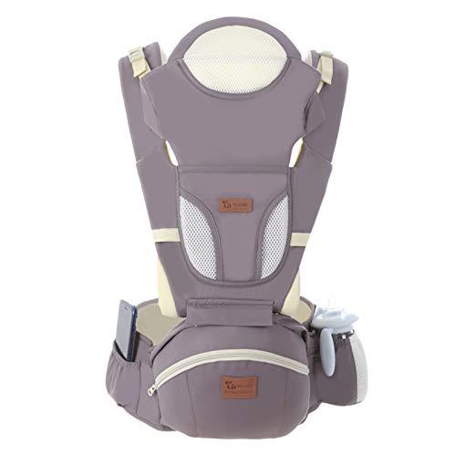 Baby Hipseat Ergonic Baby Carrier Soft Algodón 6 en 1 Infantil de seguridad Asiento de la cadera recién nacido para el hogar, al aire libre, viajes, 6-36 meses Bebés Chicas y niños ( Color : Gray )