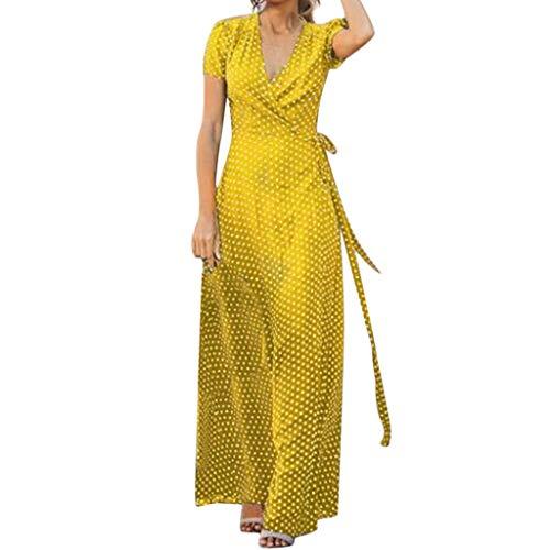Auifor Vestido Uranus venca Vestidos Ver de Mujer vestído Ajustado Amarillo años 65 Vestido años Mujer Arras niña Asimetrico Azul Claro Largo Bandage Bebe