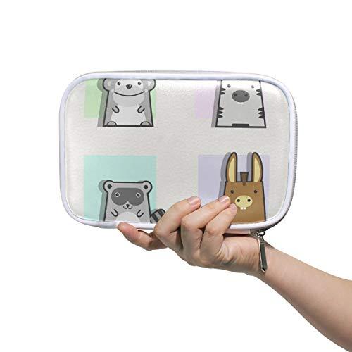 Mr.XZY Lindo Animal Patrón Personalizado Gran Lápiz Estuche De Dibujos Animados Frescos Estilo Cuento De Hadas Para Niños Viajes Pequeña Bolsa De Cosméticos Pasaporte Cartera Con Cremallera 2010750