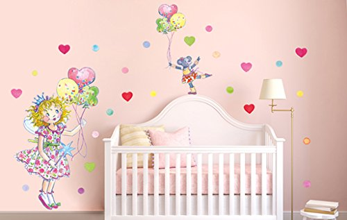 Beiwanda Wandtattoos Wandtattoo Prinzessin Lillifee Maus mit Luftballons (70x47cm)