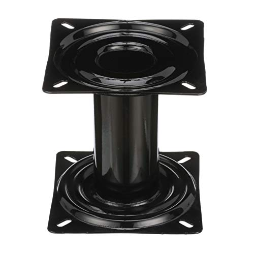 Attwood 90720 SwivlEze Pedestal 7 Inches High For Boat Seat Black Powder Coated Reinforced Welded Joints