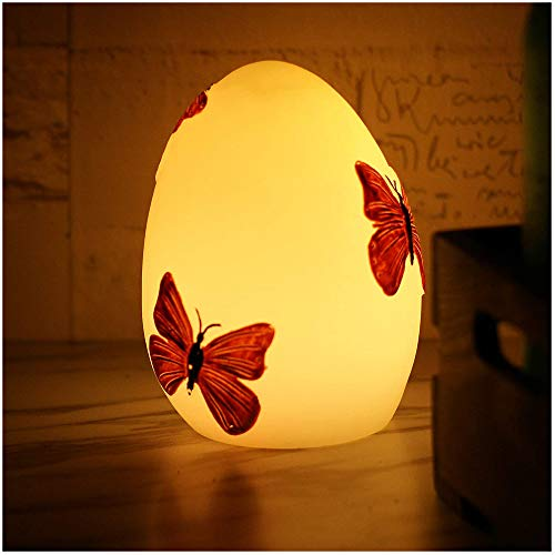 Handmade Easter Egg for Easter Spring Home Halloween Christmas Decorations Hand Painted Battery Operated Real Wax Flameless LED Candle with Timer Decorative Table Centerpiece Kids' Room Nursery Night