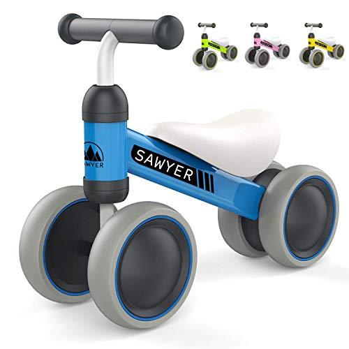 Sawyer - Correpasillos / Bicicleta Sin Pedales - Niños 10 a 24 Meses / Bebes 1 Año (Azul)