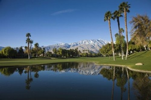 Posterazzi Pond in a Golf Course Desert Princess Country Club Palm Springs Riverside County California USA Poster Print by Panoramic Images, (24 x 16), Varies