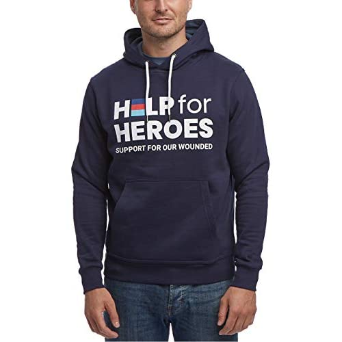 41ckSl6KFcL. SS500  - Help for Heroes Pullover Hoody Hooded Top with Logo in Navy
