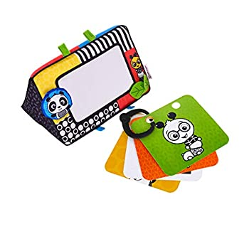 Baby Einstein Flip For Art High Contrast Floor Activity Mirror with Take Along Cards Tummy Time Play Newborn+