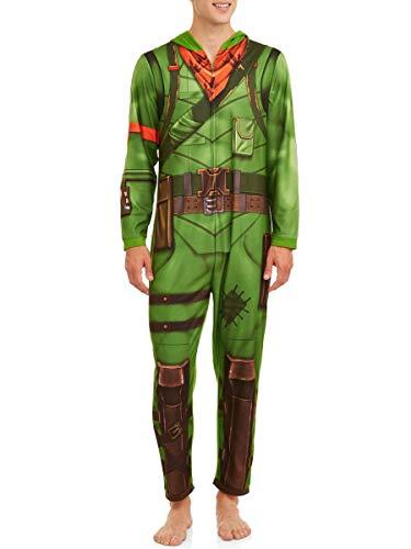 Fortnite Unisex Adult Union Suit Pajamas REX XL Green