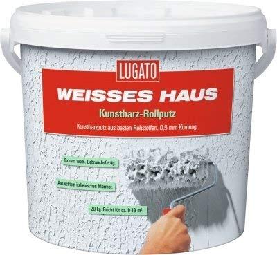 Lugato Weisses Haus Kunstharz Rollputz - Körnung 0,5 mm 20 kg