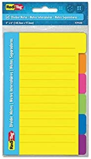 "$42 » Redi-Tag - 6 Pack - Index Sticky Notes 4 X 6 Ruled Assorted Colors 12 60-Sheet Pads ""Product Category: Paper & Printable M..."
