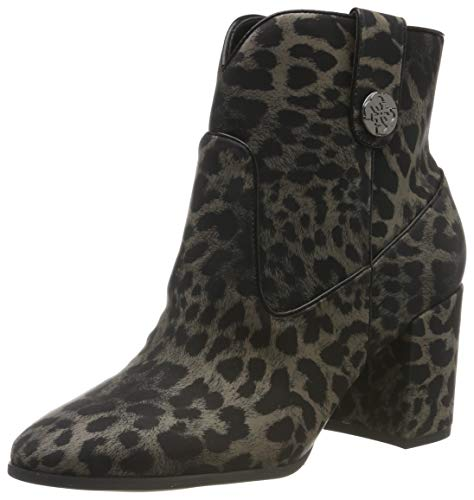 Guess Cypher2/stivaletto (Bootie)/su, Botines para Mujer, Negro (Black Colores/Op Paprika), 37 EU