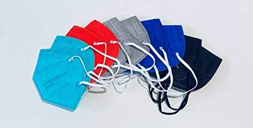 YUNYIFU 10 x FFP2 Maske | Mundschutz Maske FFP2 | ISO + CE zertifiziert | Atmungsaktiv | 10 Stück einzeln verpackt (Men Mix)
